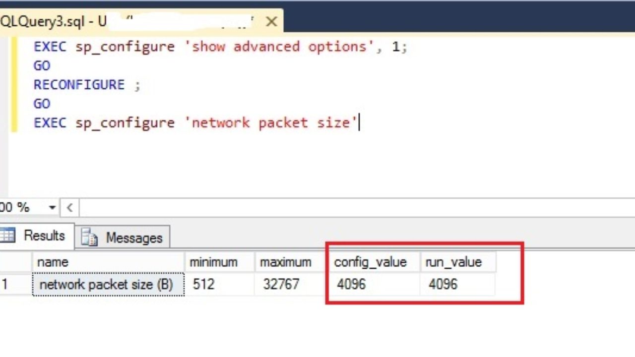 How to Change Network Packet Size in SQL Server?