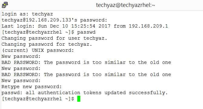 How to Reset or Change User Password on RedHat Linux