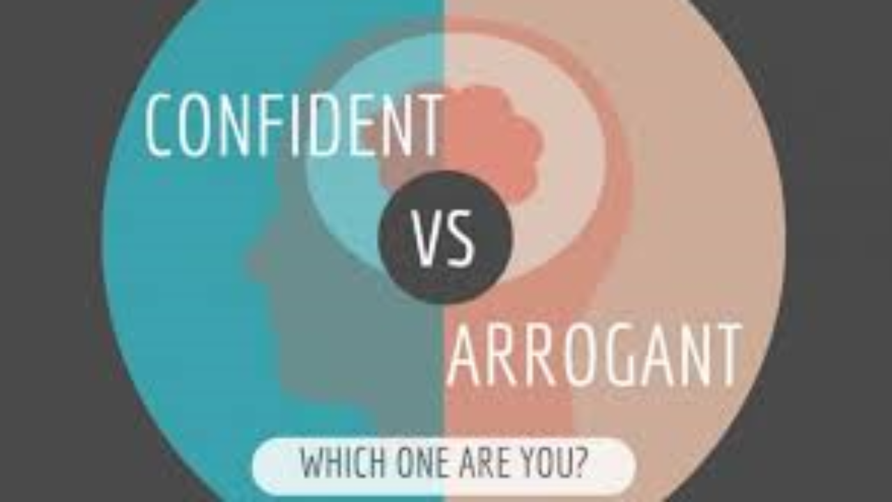 difference between confidence and arrogance